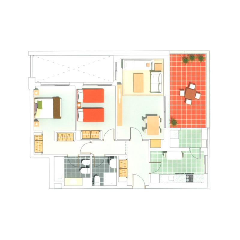 Pisos Para Baño Economicos:Piso en venta , 104 m2, 2 dormitorios, 2 baños en El Sabinar