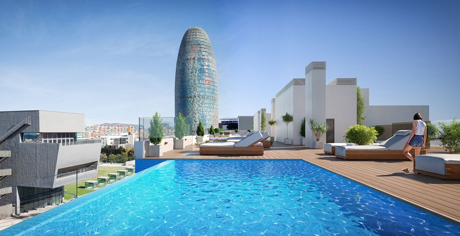 pisos obra nueva barcelona con piscina