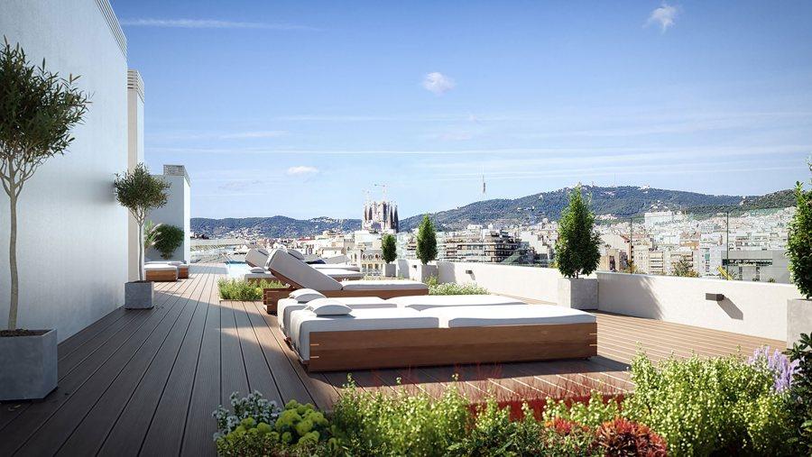 pisos obra nueva barcelona con terraza