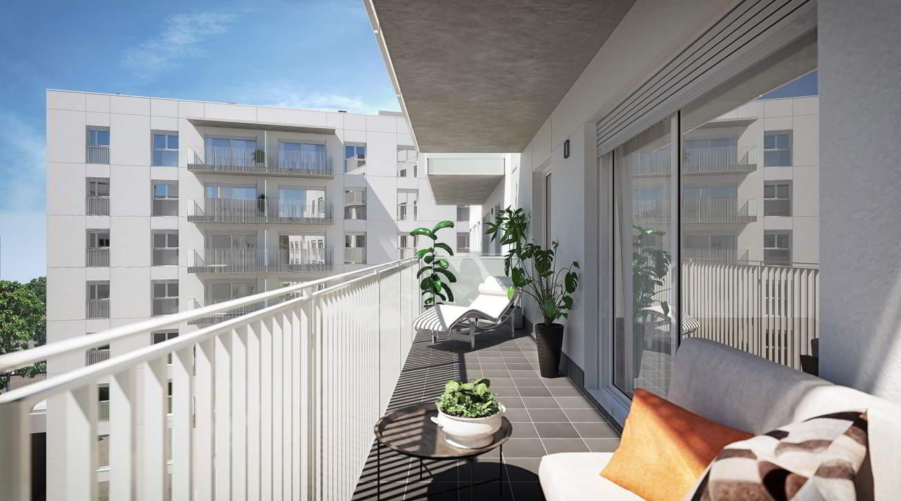 terraza piso obra nueva sabadell