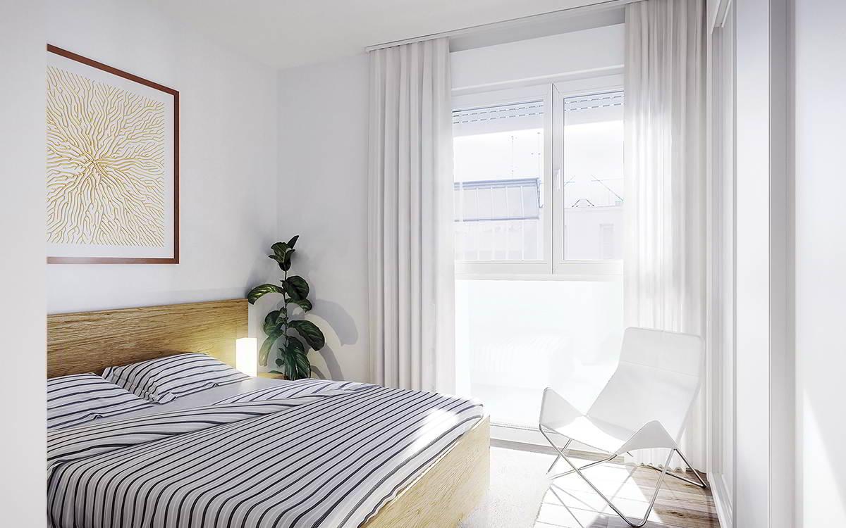 dormitorio principal obra nueva sabadell centro