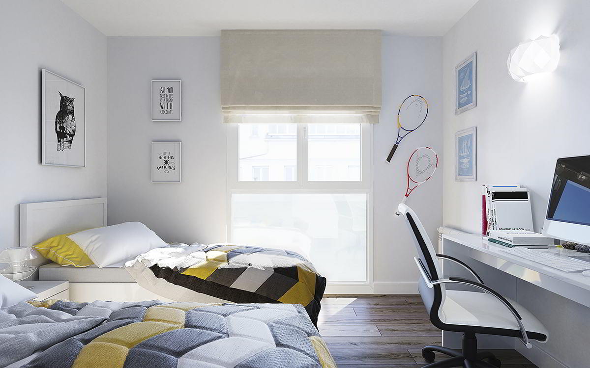 dormitorio secundario obra nueva sabadell centro