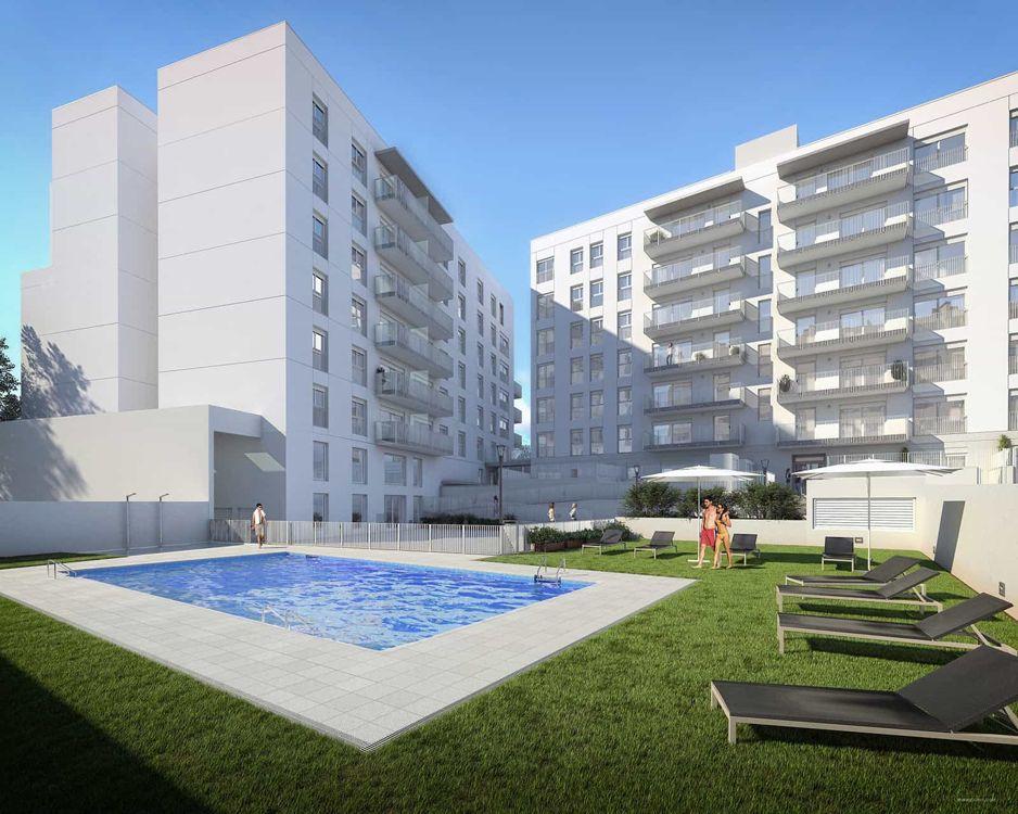 pisos obra nueva sabadell con piscina