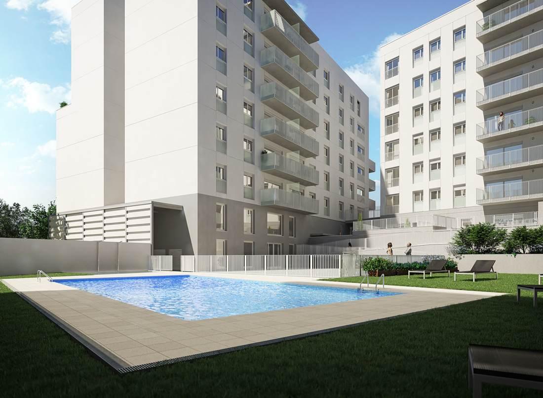 obra nueva sabadell con piscina