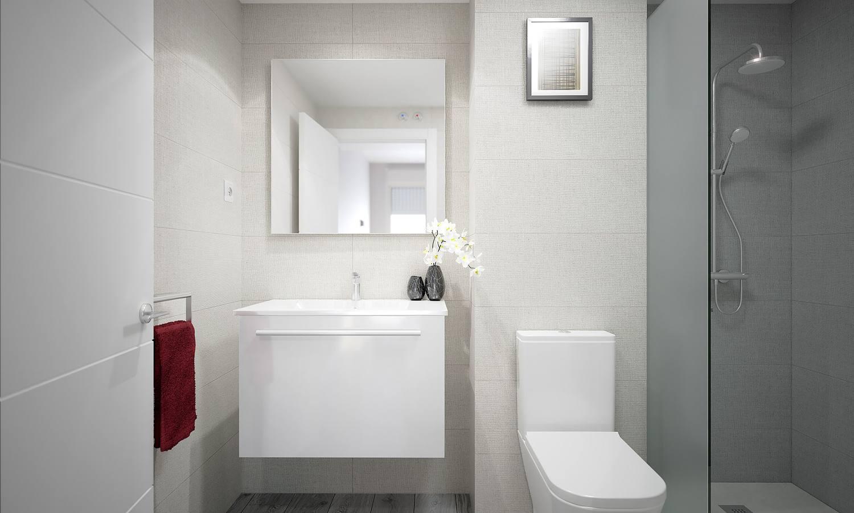 baño pisos obra nueva les masies