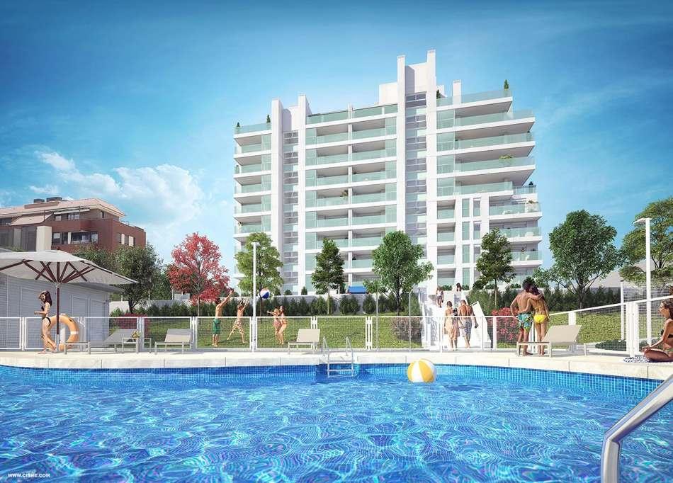 pisos obra nueva en tres cantos con piscina