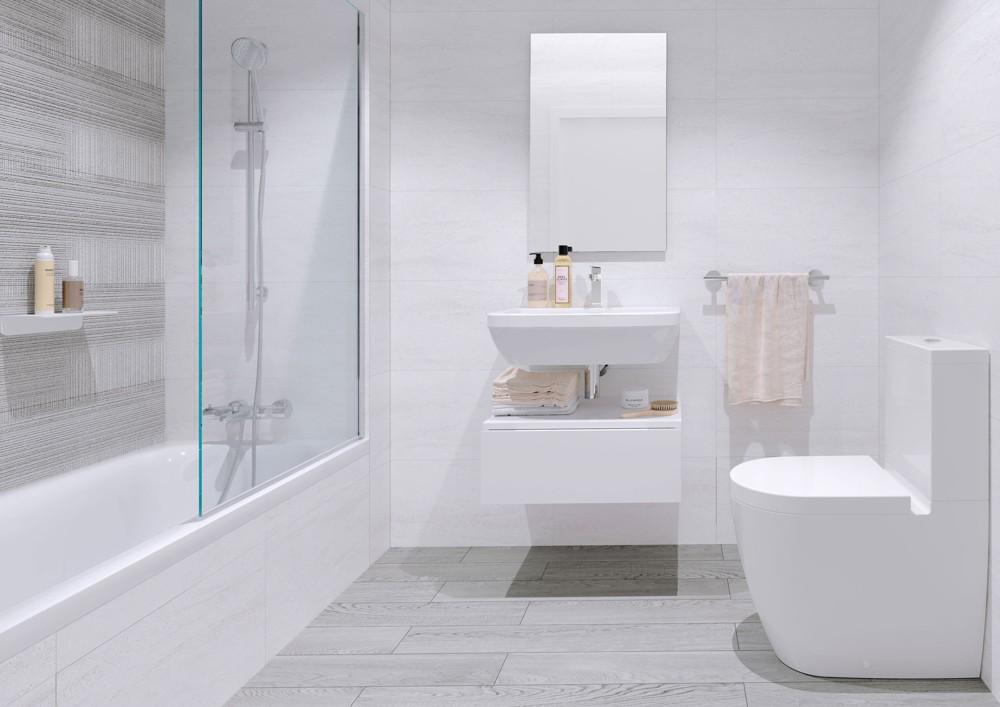 baño pisos obra nueva valdebebas