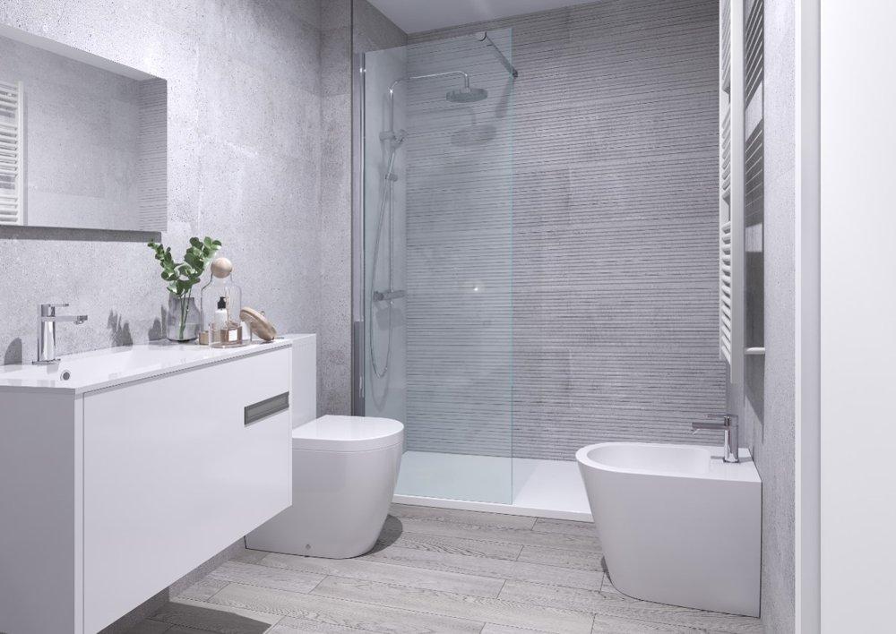 baño pisos valdebebas obra nueva
