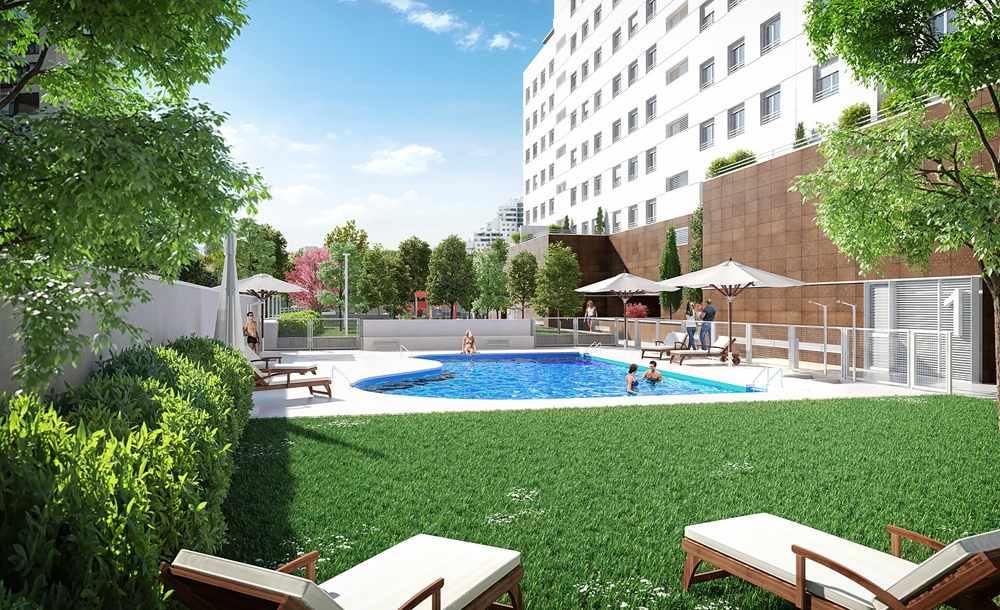pisos con piscina valdebebas obra nueva