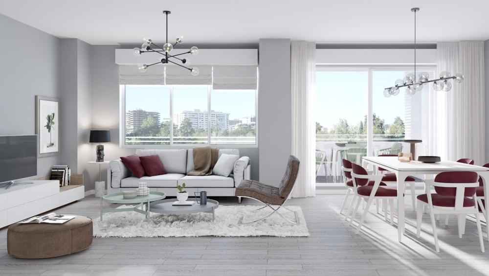 salon pisos valdebebas obra nueva