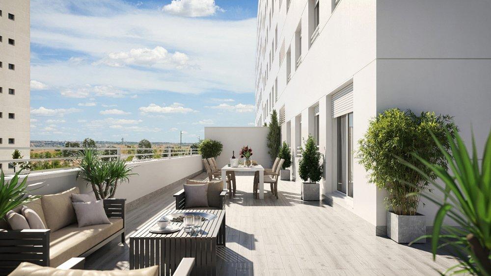 terraza pisos valdebebas obra nueva