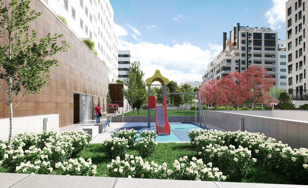 pisos obra nueva valdebebas zona infantil