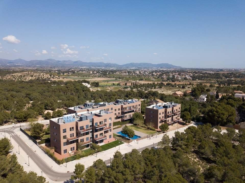 Vista aérea de la promoción Altos de Santa Bárbara