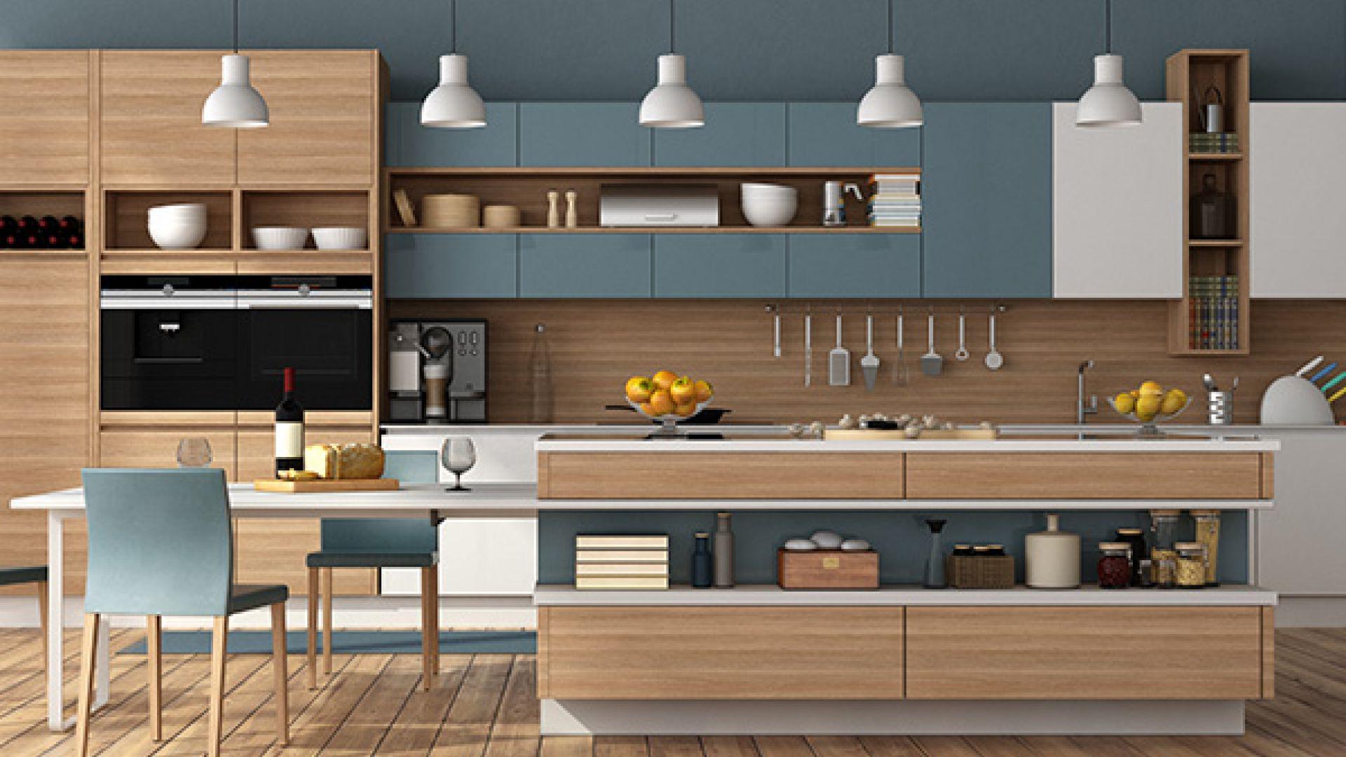 Cocinas pintadas sin azulejos